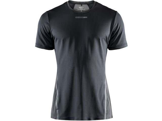 Craft Vent Camiseta Malla Manga Corta Hombre, black